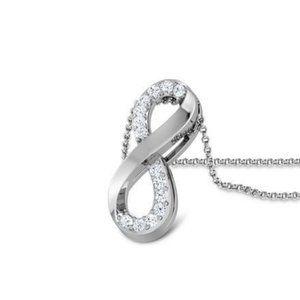 2.10 Ct round brilliant cut diamonds pendant neckl